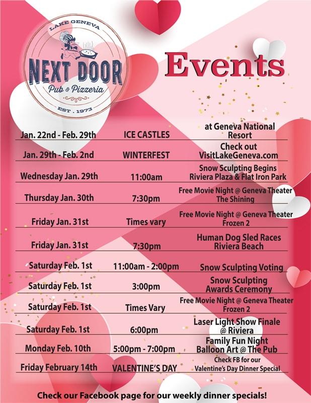 January February Events
